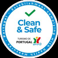 Logo / Selo de Certificação Clean & Safe emitido pelo Turismo de Portugal