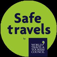 Logo / Selo de Certificação Safe Travels da WTTC (World Travel & Tourism Council)